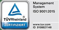 TÜV ISO 9001-2015